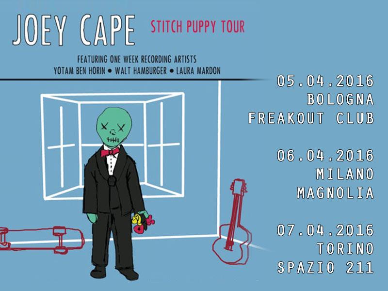 Mancano solo pochi giorni al tour italiano di JOEY CAPE