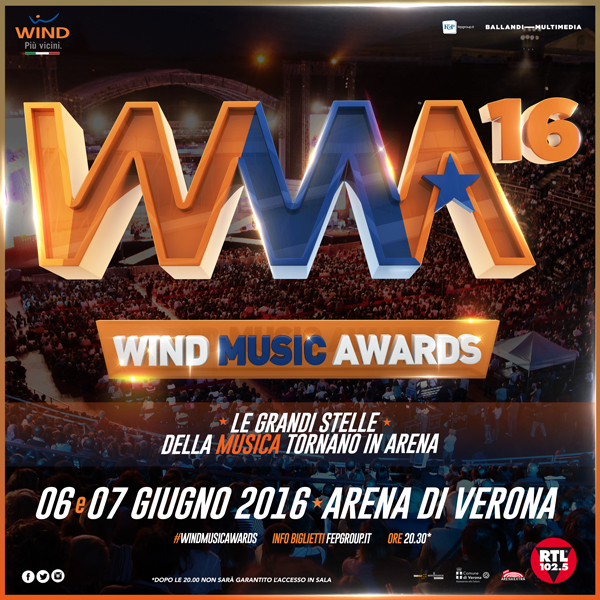 Tutto pronto all'Arena di Verona per i Wind Music Awards